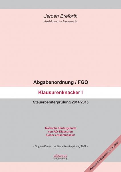 Abgabenordnung / FGO