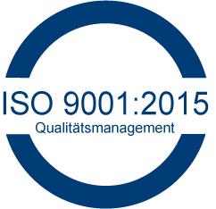 Wir arbeiten nach den Standard des ISO 9001:2015